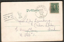 1906 Munchen post card Crown Point IN Minnie to Miss Lily Lamberg Cedar Lake