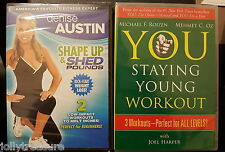 2 Fitness DVDs Denise Austin Dr. Oz Weight Loss Exercise Cardio Stretch Aerobics