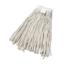 """Cut-End Wet Mop Head, Cotton, No. 24, White"""