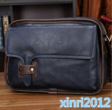 Men Leather Briefcase School Messenger Military Shoulder Bag Business Handbag