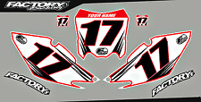 Honda CRF150R 07- 16 Pre Printed Number plate Backgrounds Accel SERIES
