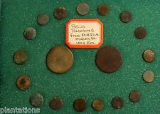 19 RARE BUTTONS FROM FORT HILL SITE, MACON, GA. CIRCA 1804