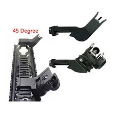 Tactical Hunting Front & Rear 45 Degree Rapid Transition Backup Side Iron Sight