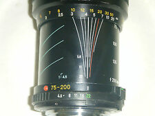 Minolta Telesor MD 75-200 Telephoto Lens 55mm
