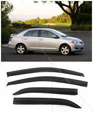 Window Visor Sun Rain Guard for Toyota Yaris Sedan 4dr 2007-2011