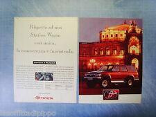 QUATTROR992-PUBBLICITA'/ADVERTISING-1992- TOYOTA 4 RUNNER -2 fogli