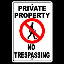 Private Property No Trespassing Sign metal safety warning security cctv SPP0001