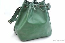Authentic Louis Vuitton Epi Petit Noe Green Shoulder Bag LV 28623
