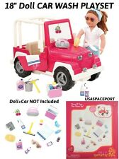 "18"" Doll CAR WASH ACCESSORIES PLAY-SET for American Girl Jeep Truck Coupe Camper"