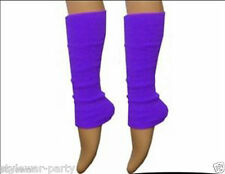 Ladies Deluxe Luxurious 80's Plain Ribbed Leg Warmers Womens Warm Accessories