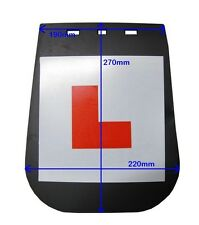 L PLATE MUD FLAP LEARNER PLATE FOR SCOOTER MOTORCYCLE MOTORBIKE MOPED ETC