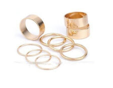 Set 9er Fingerring  Ring Fingerspitzenring  Gliederring Blogger Statement Gold