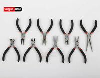 Mini Small Pliers Precision Jewellery Craft Long Bent Nose End Side Cut Spring