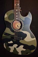 Dean Exhibition Camo Thin Body Acoustic Electric Guitar - Ships Free!