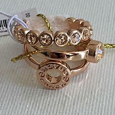 NWB Coach 56418 Set of 3 Open Circle Ring Set Rose Gold Size 6