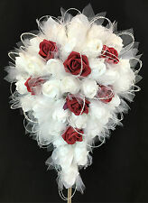 Artificial Flower Foam Rose Flowers Teardrop  Bridal Wedding Bouquet.