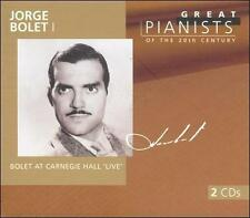 Jorge Bolet I: Great Pianists of the 20th Century, Vol. 10 Bolet, Jorge, Bach,