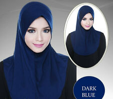 Zahra Innerneck Hijab Tudung Cotton - Dark Blue