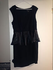 FOREVER 21 PLUS FAUX LEATHER SEXY peplum CLUBWEAR DRESS SIZE 3X