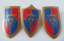 Playmobil Knight/Castle extras: 3 Royal Lion shields NEW