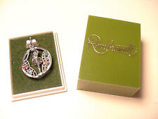REMBRANDT STERLING SILVER BALLERINA CHARM W/ FOUR STONES ORIGINAL BOX UNUSED