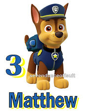 NEW PERSONALIZED PAW PATROL CHASE POLICE PUP T SHIRT BIRTHDAY TEE ADD NAME, AGE