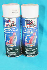 2 VINTAGE THE PARTS PLACE INC. LEATHER, VINYL, PLASTIC REFINISHER SPRAY - USED