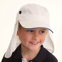 NEW BOYS GIRLS CHILDREN CHILDS COTTON LEGIONNAIRE UPF 40 UV PROTECT SUN HAT CAP