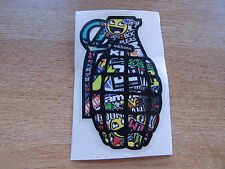 Grenade - sticker bomb / rat look - decal 100x60mm
