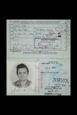 Framed Print - Johnny Cash's Original Passport (Picture Poster Art Music Singer)