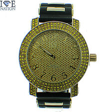 MENS ICED OUT 3 ROW FULL STONE ICE NATION WATCH WITH BULLET BAND #153 BRAND NEW
