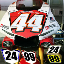 trackday or race numberplate set designed to fit 2015 yamaha R1