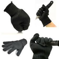 Newly Black Stainless Steel Wire Safety Cut Metal Mesh Butcher Gloves Protector