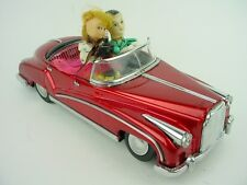 Photoing On Car-Vintage China ME-630 Couple Taking Picture In Red Convertible