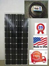 1- 165  Watt 12 Volt Battery Charger Solar Panel Off Grid RV Boat 165 watt total