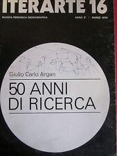 Argan e altri - Iterarte 16 - 50 anni di ricerca - Artefiera Bologna - grafica