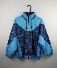 Vintage Retro para hombre de color azul brillante audaz Invierno Abrigo Chaqueta Rompevientos Reino Unido L de esquí