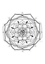 """A7 'Floral Mandala """"Desmontado sello de goma (SP005107)"""
