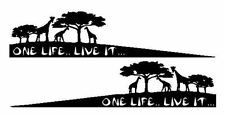 2 X One Life Live It, Adesivo, AFRICA, CAMEL TROPHY, 4x4 OFF ROAD JEEP, Land Rover
