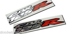 CBR 125 R motorcycle decals custom graphics silver chrome & red on black