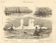 1885 THE BLOWING UP OF FLOOD ROCK HELL GATE NEW YORK