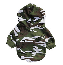 Camo Dog Hoodie Hooded Pet Clothes Small Shirt Sweater XS - L FOR SMALL DOGS