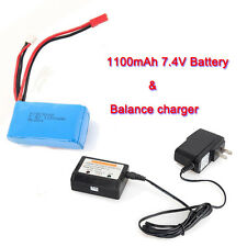 7.4V 1100mAh Battery+Charging Set For WLtoys RC A949 A959 A969 A979 V912 V913