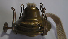 New #0 Queen Anne Solid Brass Oil Lamp Burner with Antique finish & wick #OB610A