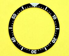 NEW SEIKO BLACK INSERT FOR 6309, 6306, 7002, 7S26, 7548 DIVE WATCH NR#038