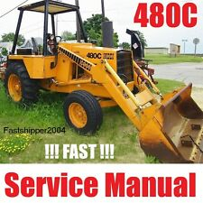 Case 480 C Backhoe Loader Tractors 480C Service Manual CK Construction King CD
