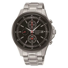 SCNP SNDE27P1 Seiko Gent Date Chronograph Stainless Steel Bracelet Watch