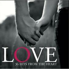 LOVE - 36 HITS FROM THE HEART - VARIOUS ARTISTS (NEW SEALED 2CD)