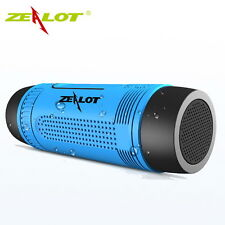 Zealot S1 Waterproof Bluetooth Speaker Flashlight Power Bank FM TF Blue Outdoor