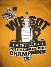 "BOSTON BRUINS 2011 STANLEY CUP CHAMPIONS (LG) T-Shirt ""WE GOT THE CUP"" w/ Holo"